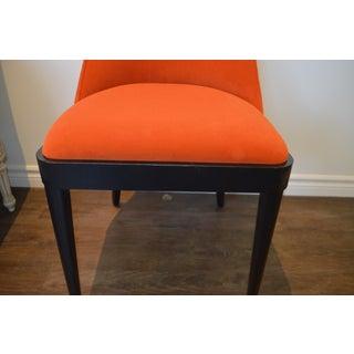 Modern Round Back Dining Chair Upholstered in Kravet's Crypton Washable Velvet for Custom Order Preview