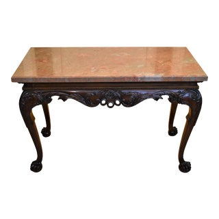 19th Century Irish Chippendale Style Mahogany Accent Console Table For Sale