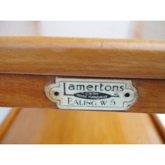 Stunning English Art Deco Bar Cart For Sale - Image 4 of 8
