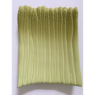 Large - Apple Green Ceramic Hand Painted Asparagus Platter Preview