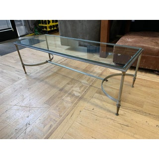 Maison Jensen Style Chrome + Brass Glass Coffee Table Preview