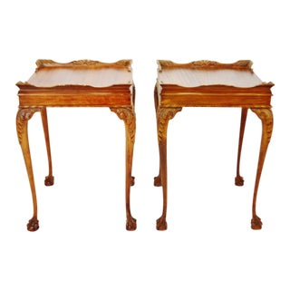 Vintage 1950 Superior Table Ball and Claw Foot Parlor Tables - a Pair For Sale