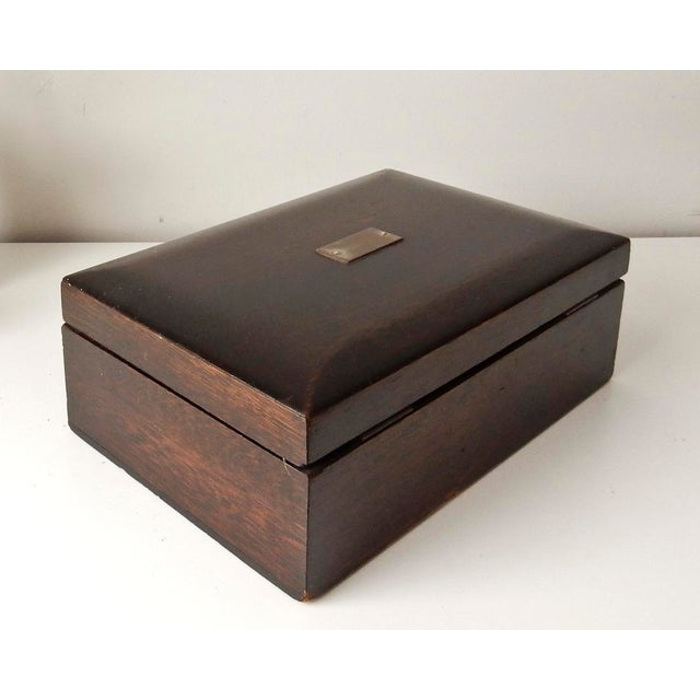 Vintage Wood Jewelry Trinket Box - Image 4 of 9