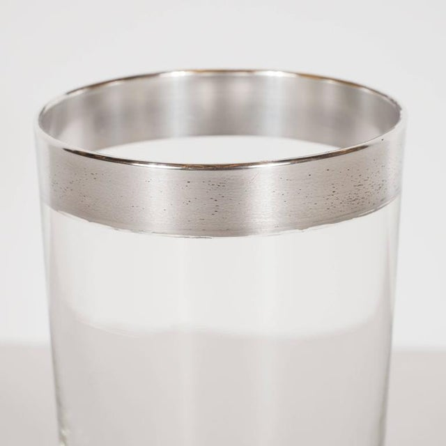 Mid-Century Modern Set of 4 Mid-Century Sterling Silver Overlaid Highball Glasses by Dorothy Thorpe For Sale - Image 3 of 6
