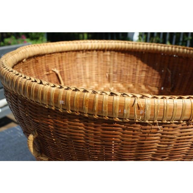 Large Vintage Woven Basket Planter For Sale - Image 12 of 13