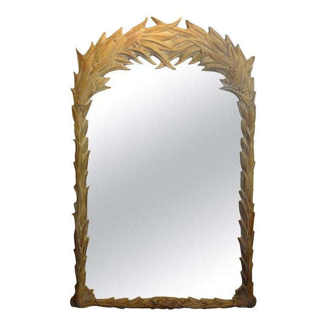 Vintage Dorothy Draper Style Palm Frond Mirror For Sale - Image 12 of 12