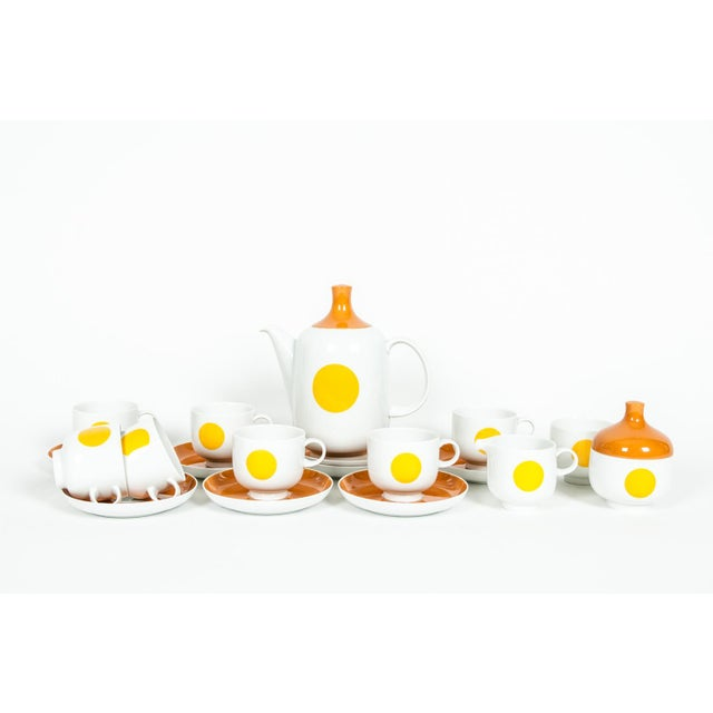 Contemporary Mid-Century Modern German Tea / Coffee Service - 18 Pc. Set For Sale - Image 3 of 10