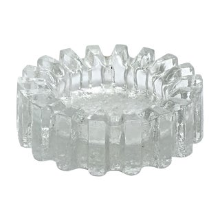 Mid-Century Modern Fluted Glass Candy Dish For Sale