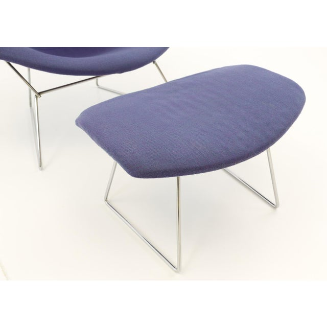 Knoll Vintage Mid-Century Harry Bertoia for Knoll Diamond Rocking Chair & Ottoman - 2 Pieces For Sale - Image 4 of 13