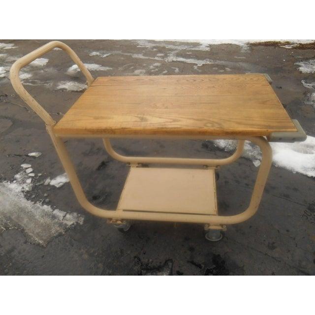 Vintage 1960s Industrial Rolling Bar Cart/Server - Image 2 of 5