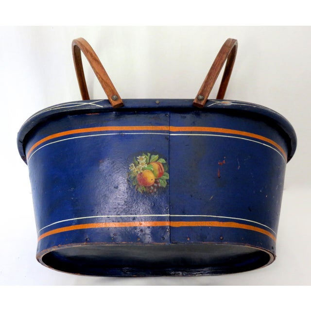 1890s Antique Grocery Shopping Carry Basket For Sale In Boston - Image 6 of 13