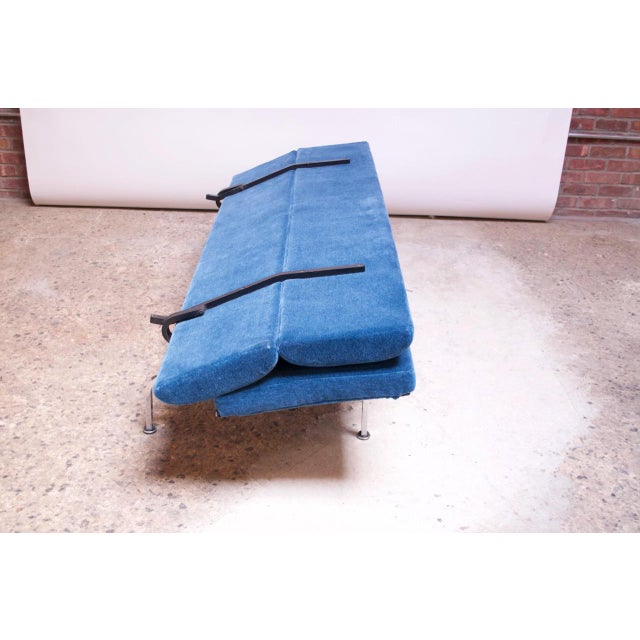 Charles and Ray Eames for Herman Miller Chromed-Steel and Mohair Compact Sofa For Sale - Image 9 of 13