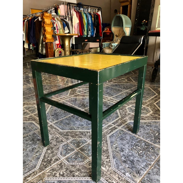 20th Century Rustic Kittinger Modern Painted Side Table For Sale - Image 11 of 11