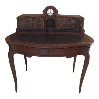 19th C French Louis XV Style Parquetry Bonheur Du Jour Bureau De Dame Lady's Desk For Sale