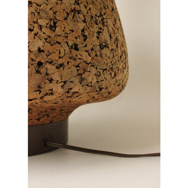 Cork & Pottery Table Lamp For Sale - Image 5 of 7