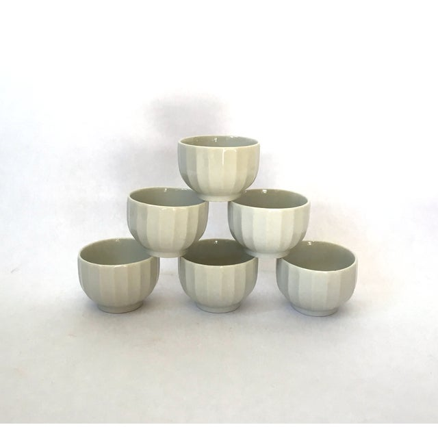 Ribbed Tea Cups - Set of 6 - Image 3 of 4