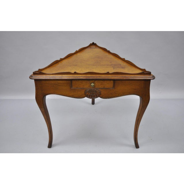 Country French Louis Triangle Side Table For Sale - Image 10 of 10