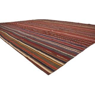 Modern Style Vintage Turkish Jajim Kilim Flat-Weave Rug Preview