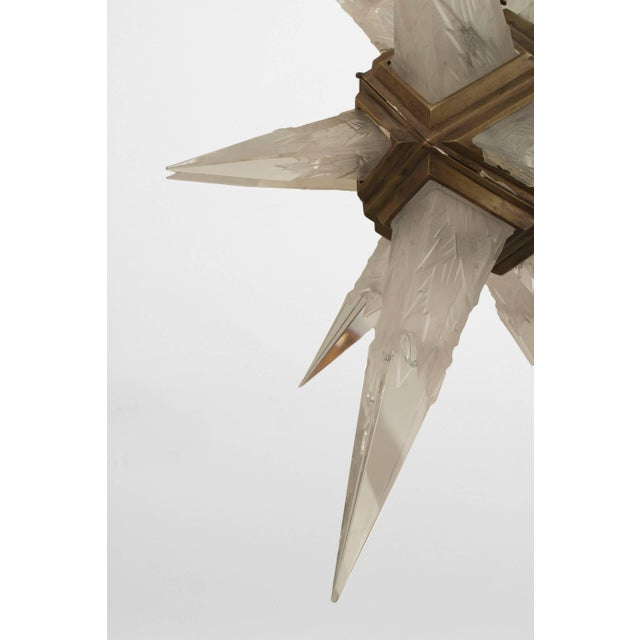 1930s American Art Deco Star Form Chandelier For Sale In New York - Image 6 of 7