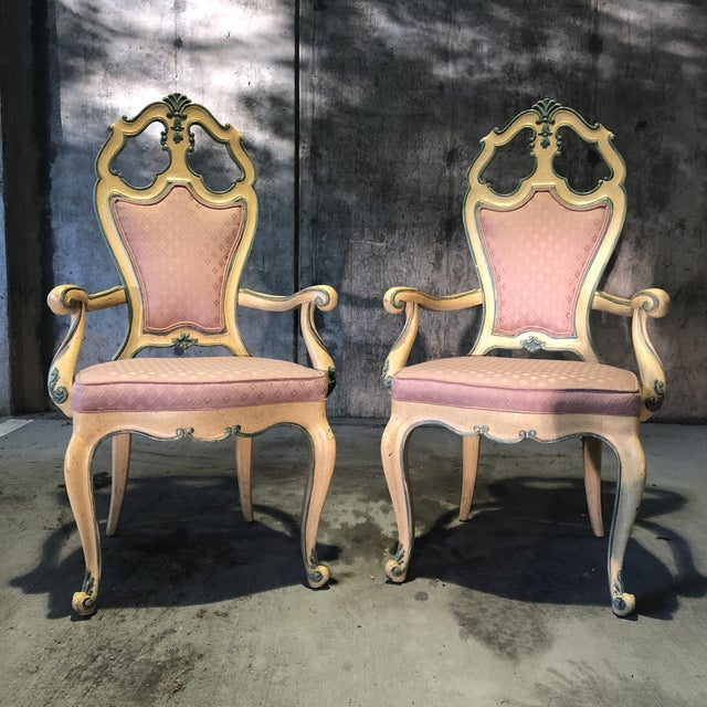 Victorian Victorian Style Era Gothic Chairs- a Pair For Sale - Image 3 of 9