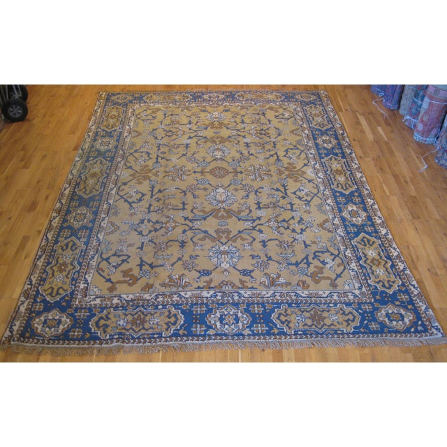 Antique Turkish Rug is all wool, vegetal dye, and hand-knotted in Turkey.