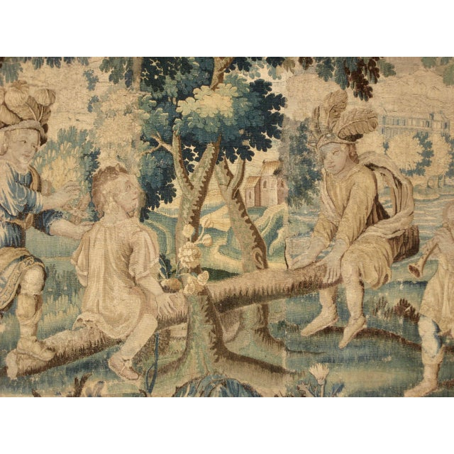 Children's French 17 Century Louis XIV Aubusson Tapestry Wall Hanging For Sale - Image 3 of 8