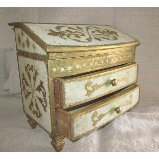 Gold Vintage Florentine Miniature Storage Chest For Sale - Image 8 of 9