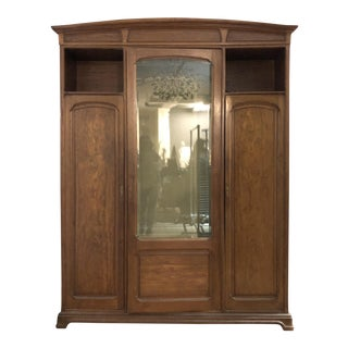 1900s Art Nouveau Armoire For Sale