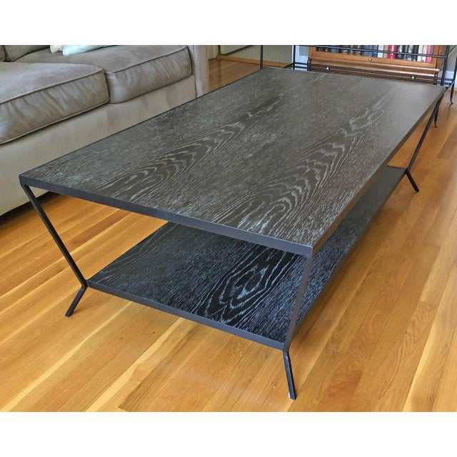 Modern Oly Sutter Cocktail Table in Fumed Oak For Sale In Washington DC - Image 6 of 6
