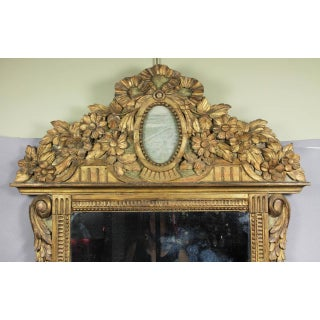 Louis XVI Giltwood and Green Painted Mirror Preview