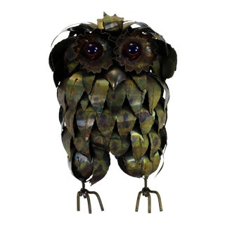 C. Jere Style Metal Owl For Sale