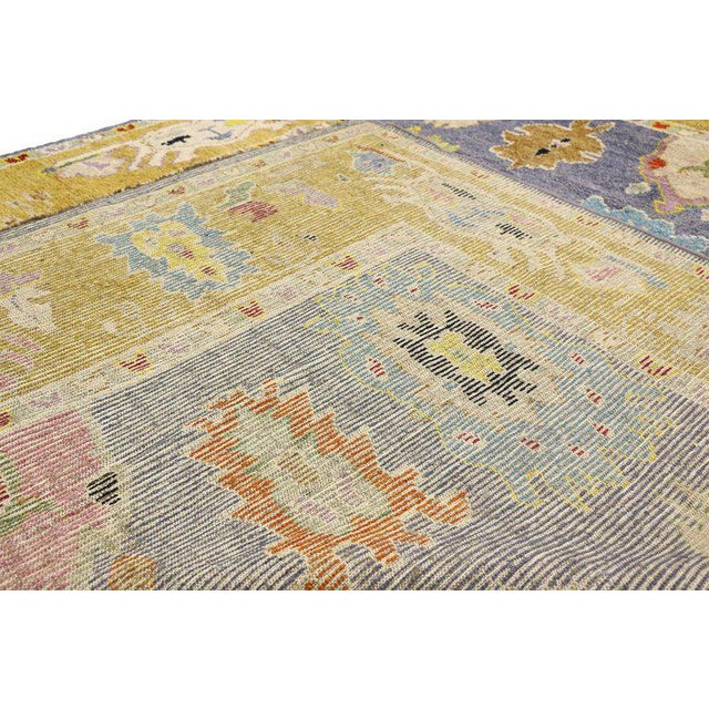 Contemporary Oushak Inspired Area Rug - 9′3″ × 12′5″ For Sale - Image 4 of 9