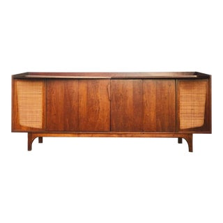 1960s Danish Modern Teak and Walnut Credenza For Sale