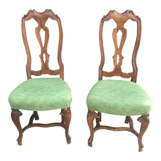 Vintage Gumps Chippendale Style Mahogany Occasional Chairs - a Pair For Sale