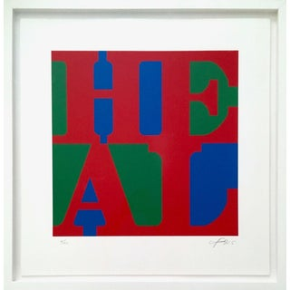 Robert Indiana HEAL (Red, Green, Blue Variation) 2015 For Sale
