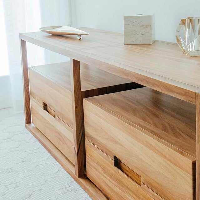 2010s Bodega Console, Cenicero and Conacaste Solid Wood For Sale - Image 5 of 8