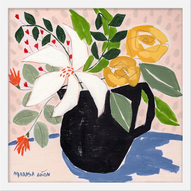 "Contemporary Small ""April Florals 3"" Print by Marisa Anon, 20"" X 20"" For Sale - Image 3 of 3"
