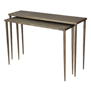 Della's Iron Console Nesting Tables - a Pair