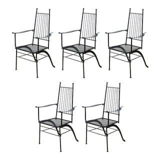 John Salterini for Woddard Mid-Century Modern Iron Patio Chairs For Sale