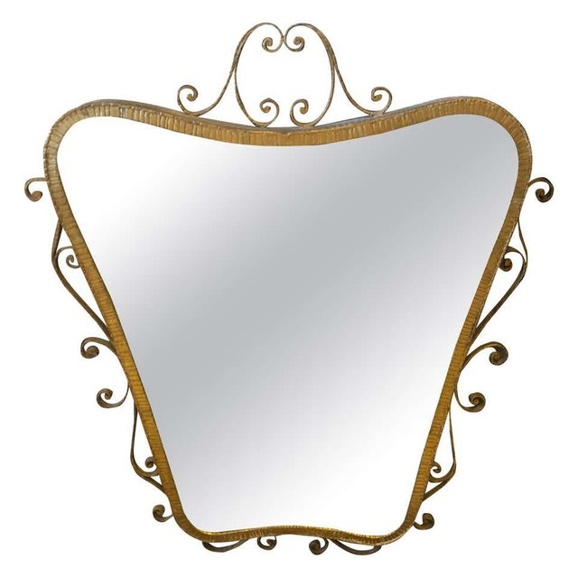 1950s Italian Mid-Century Modern Pier Luigi Colli Shaped Wall Mirror For Sale - Image 13 of 13