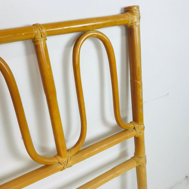 1970s McGuire Twin Headboards Pair For Sale - Image 5 of 8