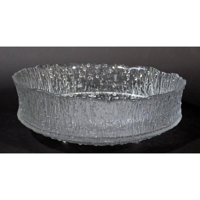 Mid-Century Modern Rare Tapio Wirkkala Large Cast Glass Ice Dish Model 3442 For Sale In Detroit - Image 6 of 9
