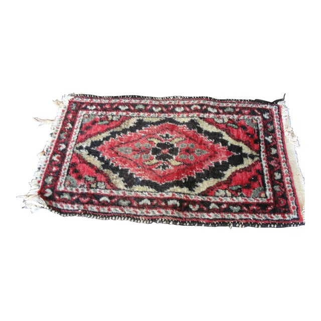 Vintage Wool Hand Tied Prayer Rug - 1′3″ × 2′2″ - Image 1 of 5