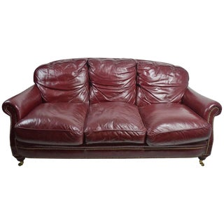 Classic Leather Sofa Couch For Sale