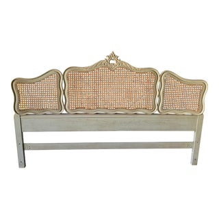 French Provincial Cane Headboard For Sale