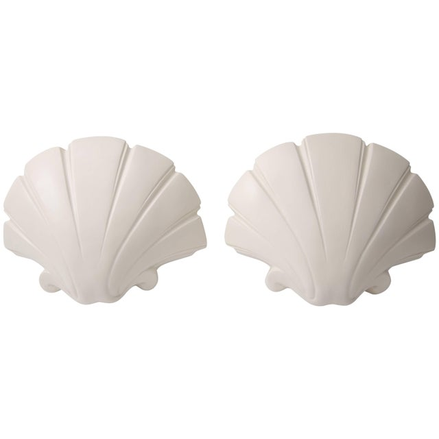 Scallop Clam Shell-Form Wall Sconces by Sirmos - a Pair For Sale - Image 10 of 10