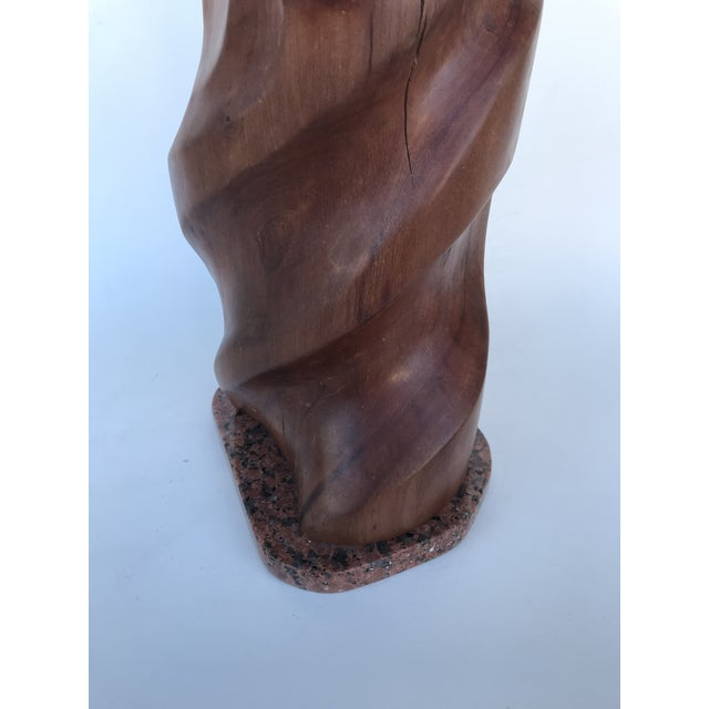 """J. Terkiel """"Abstract IV"""" Mid-Century Styled Mahogany Sculpture For Sale In Miami - Image 6 of 7"""