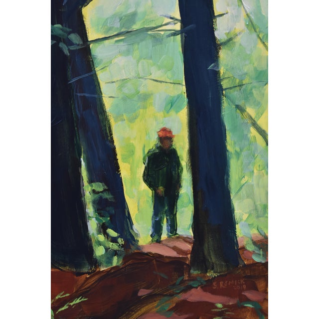 "2010s Contemporary Painting, ""Entering the Forest"", by Stephen Remick For Sale - Image 5 of 10"
