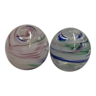 Joe Rice Paper Weights - a Pair For Sale