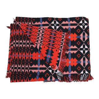 1960s Woven Reversible Welsh Blanket